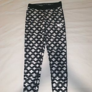 Nike Black and White Leggings